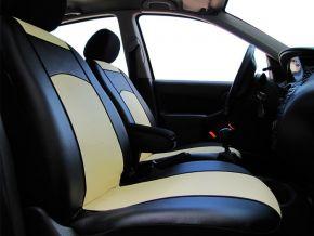 Méretre varrott huzatok bőr FIAT 500