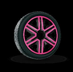 """Dísztárcsa CITROEN 14"""", ACTION DOUBLECOLOR pink és fekete 4 db"""