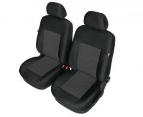 Autóhuzatok BMW 3 sorozat (E46) Méretezett huzatok APOLLO huzatok az első ülésekre fekete+ grafitszürke