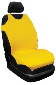 Üléshuzat 100% pamut, sárga, első 2db + hátsó