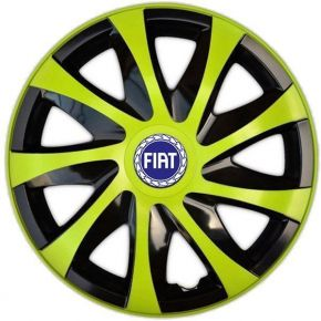 """Dísztárcsa FIAT BLUE 14"""", DRACO zöld 4 db"""