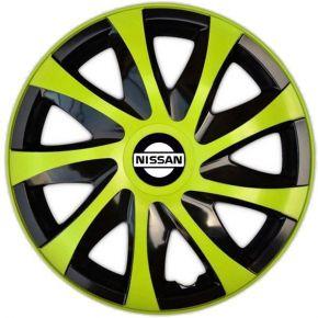 """Dísztárcsa NISSAN 14"""", DRACO zöld 4 db"""