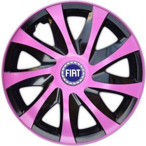 """Dísztárcsa FIAT BLUE 15"""", DRACO rózsaszín 4 db"""