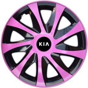 """Dísztárcsa KIA 14"""", DRACO rózsaszín 4 db"""