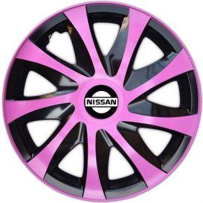 """Dísztárcsa NISSAN 14"""", DRACO rózsaszín 4 db"""