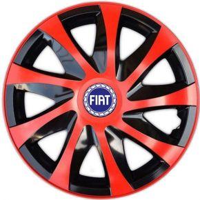 """Dísztárcsa FIAT BLUE  16"""", DRACO piros 4 db"""