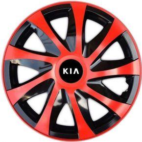 """Dísztárcsa KIA 14"""", DRACO piros 4 db"""