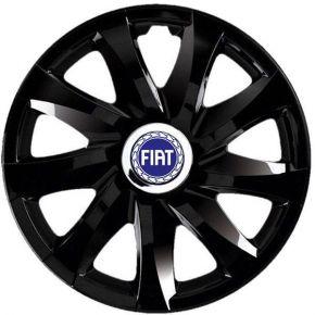 """Dísztárcsa FIAT 13"""", DRIFT fekete lakkozott 4 db"""