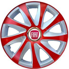 """Dísztárcsa FIAT 15"""", DRIFT EXTRA piros-ezüst 4db"""