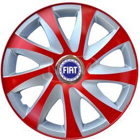 """Dísztárcsa FIAT 14"""", DRIFT EXTRA piros-ezüst 4db"""