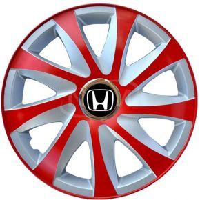 """Dísztárcsa HONDA 14"""", DRIFT EXTRA piros-ezüst 4db"""