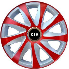 """Dísztárcsa KIA 15"""", DRIFT EXTRA piros-ezüst 4db"""