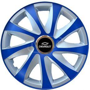"""Dísztárcsa CHEVROLET 15"""", DRIFT EXTRA blue-ezüst  4db"""