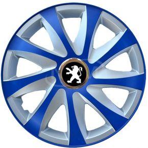 """Dísztárcsa PEUGEOT 14"""", DRIFT EXTRA blue-ezüst  4db"""
