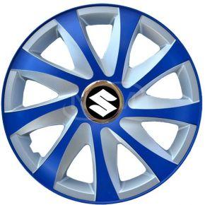 """Dísztárcsa SUZUKI 15"""", DRIFT EXTRA blue-ezüst  4db"""