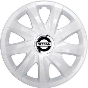 """Dísztárcsa NISSAN 15"""", DRIFT fehér lakkozott 4 db"""