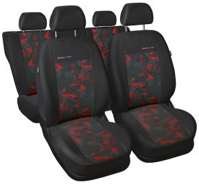 Univerzális üléshuzat Elegance piros