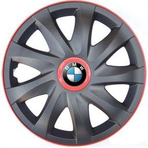 """Dísztárcsa BMW 14"""", KANDO RACE MATT FEKETE piros 4db"""