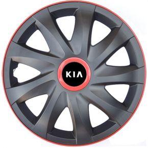 """Dísztárcsa KIA 14"""", KANDO RACE MATT FEKETE piros 4db"""