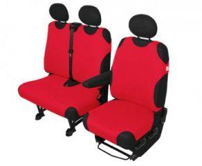 Autóhuzatok Fiat Scudo Méretezett huzatok SHIRT COTTON DV2+1 polós huzatok piros