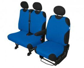 Autóhuzatok Fiat Scudo Pólós védőhuzatok SHIRT COTTON DV2+1 polós huzatok kék