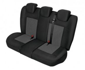 Autóhuzatok Nissan X-Trail III 2013-tól Méretezett huzatok PERUN huzatok a hátsó ülésre grafitszürke