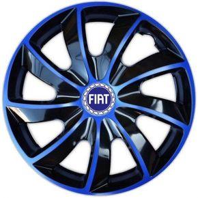 """Dísztárcsa FIAT BLUE 15"""", QUAD BICOLOR kék 4 db"""
