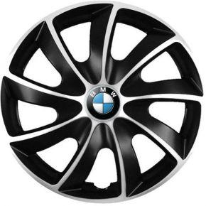 """Puklice pre BMW 17"""", Quad bicolor, 4 ks"""