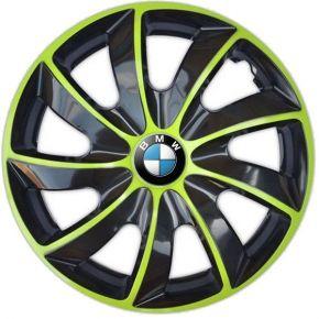 """Dísztárcsa BMW 17"""", QUAD BICOLOR zöld 4 db"""