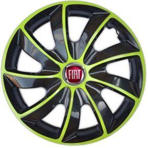 """Dísztárcsa FIAT 14"""", QUAD BICOLOR zöld 4 db"""
