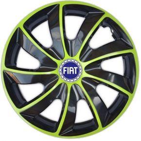 "Dísztárcsa FIAT BLUE 15"", QUAD BICOLOR zöld 4 db"