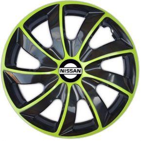 """Dísztárcsa NISSAN 15"""", QUAD BICOLOR zöld 4 db"""