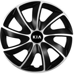 "Puklice pre Kia 15"", Quad bicolor, 4 ks"