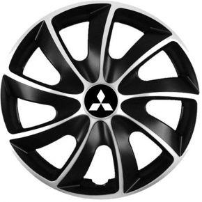 """Puklice pre Mitsubishi 17"""", Quad bicolor, 4 ks"""