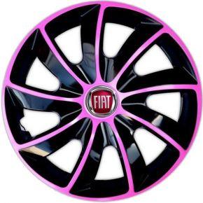 """Dísztárcsa FIAT 14"""", QUAD BICOLOR rózsaszín 4 db"""