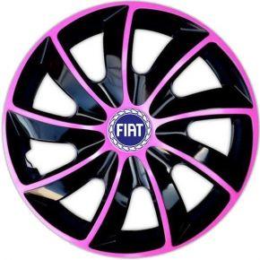 """Dísztárcsa FIAT BLUE 14"""", QUAD BICOLOR rózsaszín 4 db"""