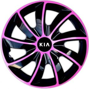 """Dísztárcsa KIA 14"""", QUAD BICOLOR rózsaszín 4 db"""