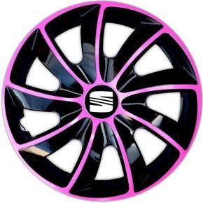 """Dísztárcsa SEAT 17"""", QUAD BICOLOR rózsaszín 4 db"""