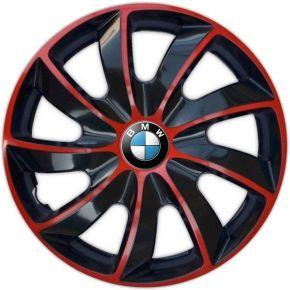 """Dísztárcsa BMW 14"""", QUAD BICOLOR piros 4 db"""