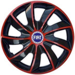 "Dísztárcsa FIAT BLUE 14"", QUAD BICOLOR piros 4 db"