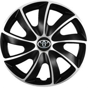 """Puklice pre Toyota 17"""", Quad bicolor, 4 ks"""
