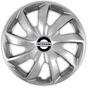 """Dísztárcsa NISSAN 15"""", QUAD szürke 4 db"""