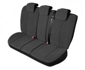 Autóhuzatok Fiat Grande Punto Univerzális huzatok SCOTLAND huzatok a hátsó ülésre fekete-fehér kockák