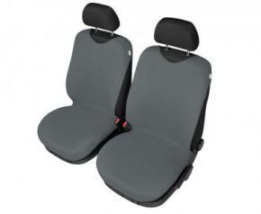 Autóhuzatok Mazda 6 II 2012-ig Pólós védőhuzatok SHIRT COTTON A pólós huzatok az elülső fotelekre grafitszürke