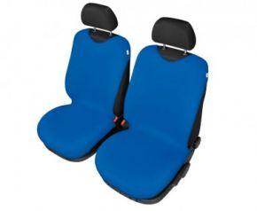 Autóhuzatok Mazda 6 II 2012-ig Pólós védőhuzatok SHIRT COTTON A pólós huzatok az elülső fotelekre kék