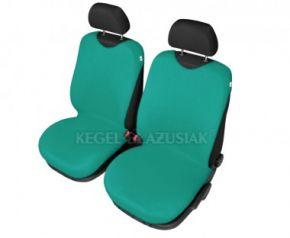 Autóhuzatok Mazda 6 II 2012-ig Pólós védőhuzatok SHIRT COTTON A pólós huzatok az elülső fotelekre zöld