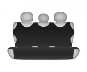 Autóhuzatok Fiat Idea Pólós védőhuzatok SHIRT COTTON hátsó díványra való huzat fekete