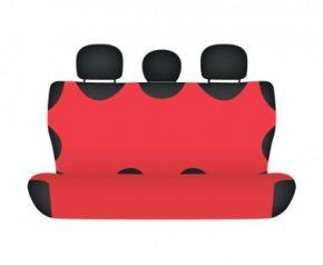 Autóhuzatok Citroen C8 Méretezett huzatok II sor SHIRT COTTON hátsó díványra való huzat piros