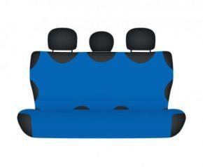 Autóhuzatok Mazda 6 II 2012-ig Pólós védőhuzatok SHIRT COTTON hátsó díványra való huzat kék
