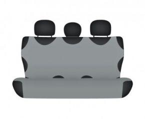 Autóhuzatok Nissan Micra IV 2013-ig Méretezett huzatok SHIRT COTTON hátsó díványra való huzat szürke